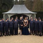 Image for the Tweet beginning: With the airforce cadets and