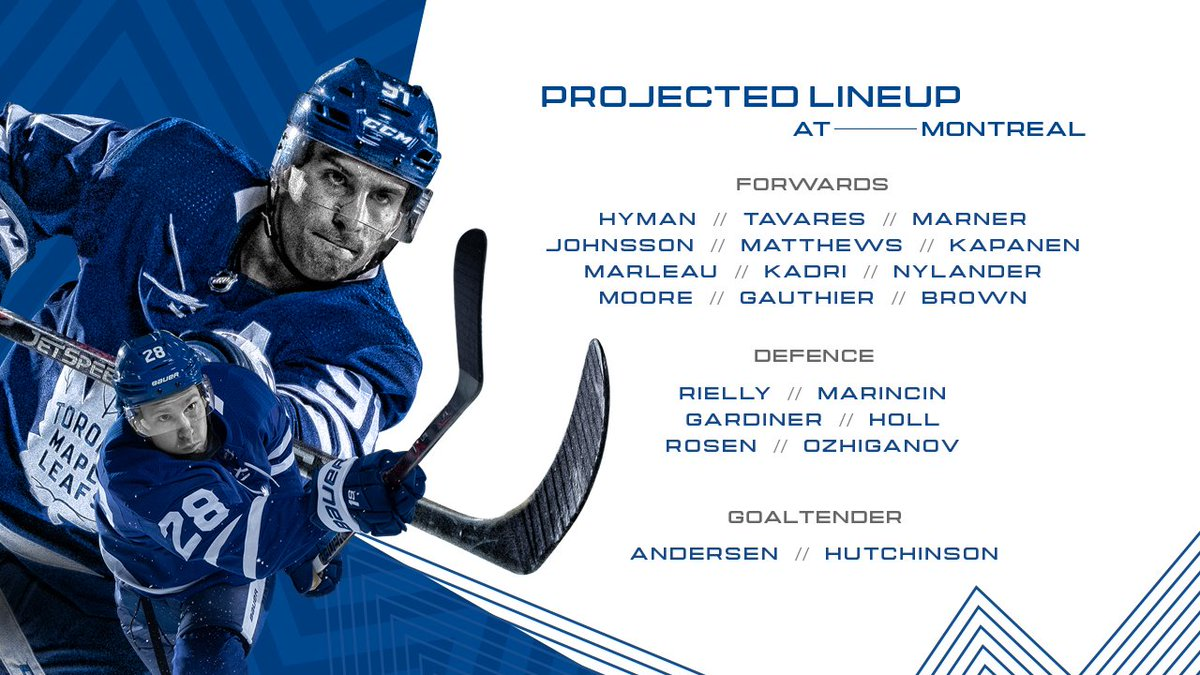Toronto Maple Leafs On Twitter A Look At The Leafs Lines In Montreal Tonight Leafsforever