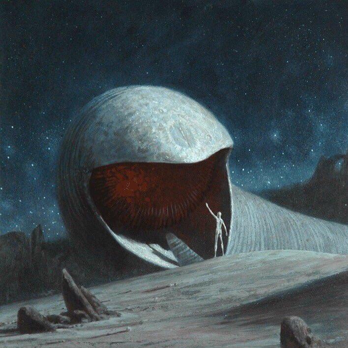 John Schoenherr's Dune sandworms. Still the definitive Dune illustrations in my opinion