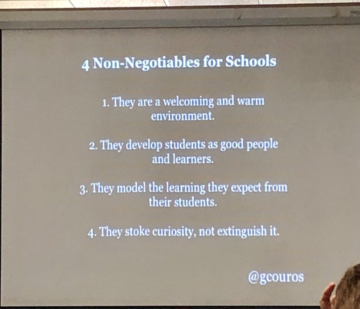 I need to do more of #3 Model the learning I expect of students (and teachers)...@gcouros #HCILead