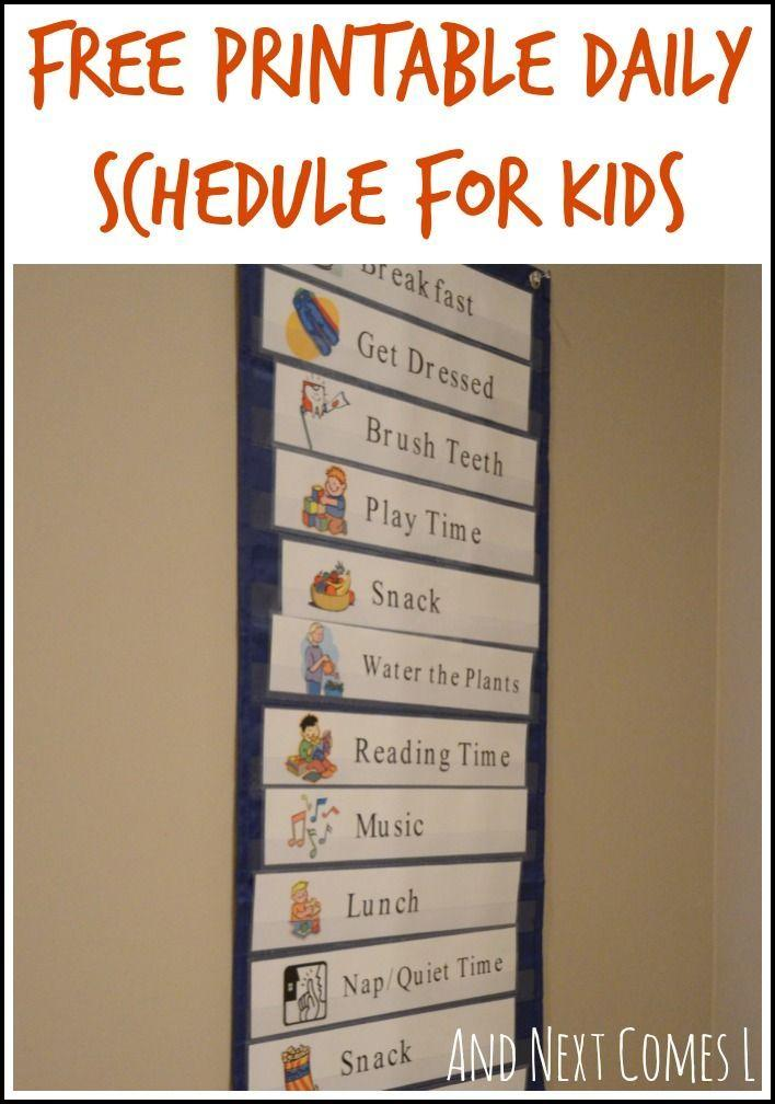 image regarding Free Printable Visual Schedule for Home referred to as No cost printable visible routine for house - great for