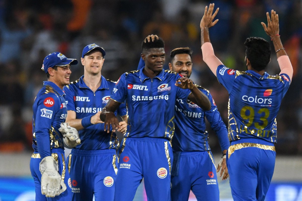 "Cricbuzz on Twitter: """"I don't really celebrate wickets, I celebrate wins."" IPL debutant last night, Alzarri Joseph claimed 6 for 12 in @mipaltan's 40-run victory over @SunRisers to re-write the record for"