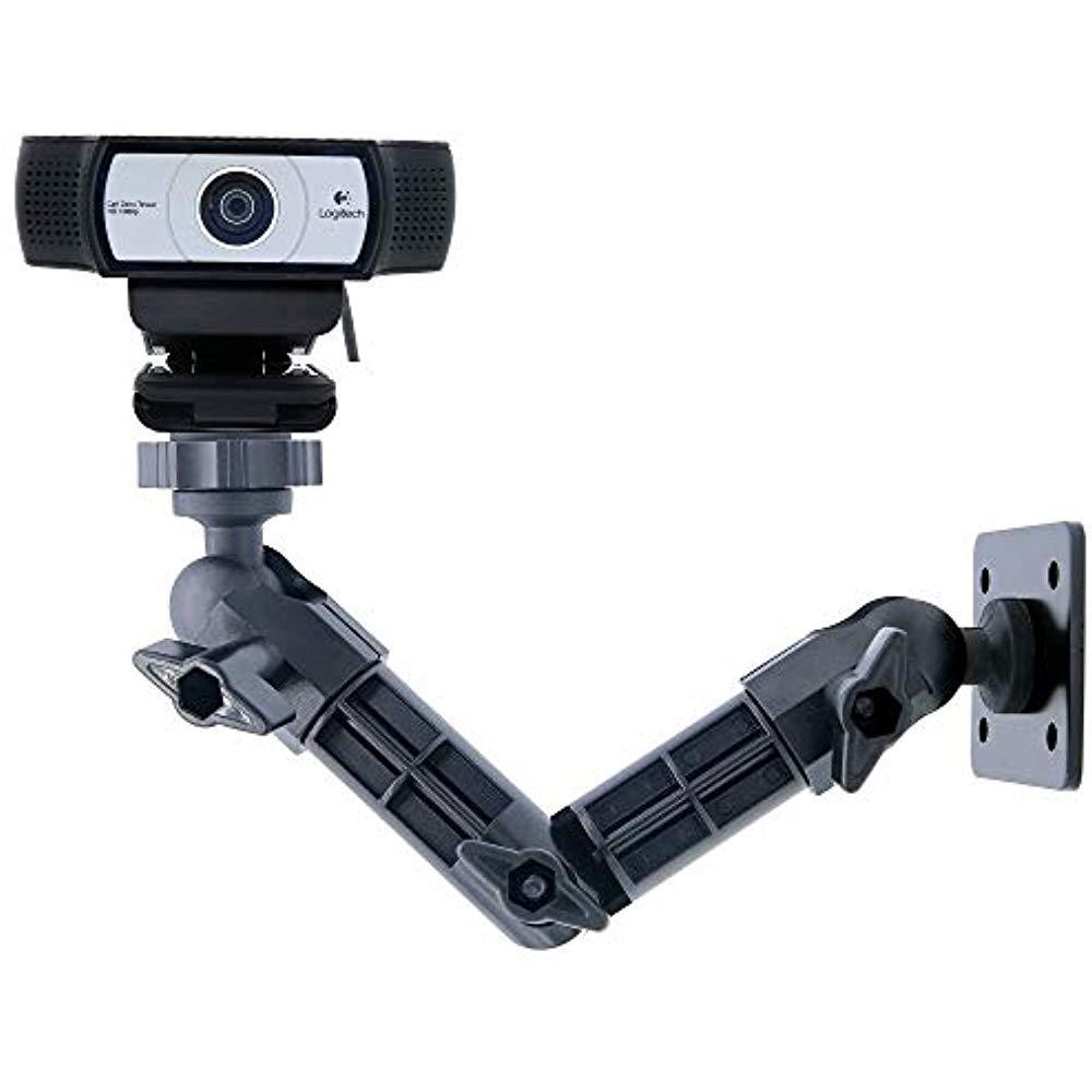 Ajustable Webcam Tripod With Cellphone Holder, Overhead Phone Mount, Table Top Teaching Online Stand For Live Streaming