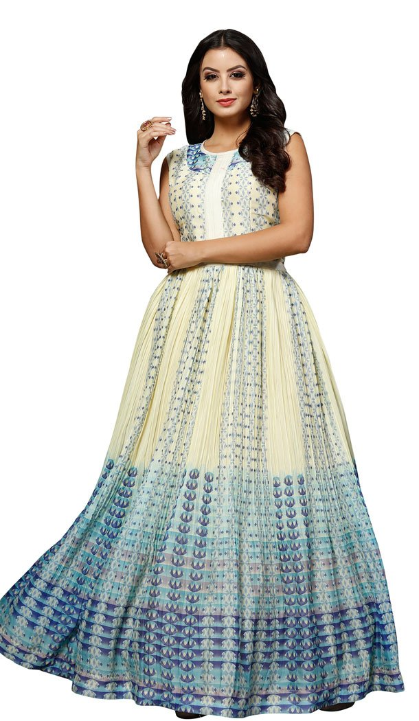 15a3e40e4d Designer Party Wear Gowns Floor Touch Dresses Online at India's Best Online  Shopping Store Shop at