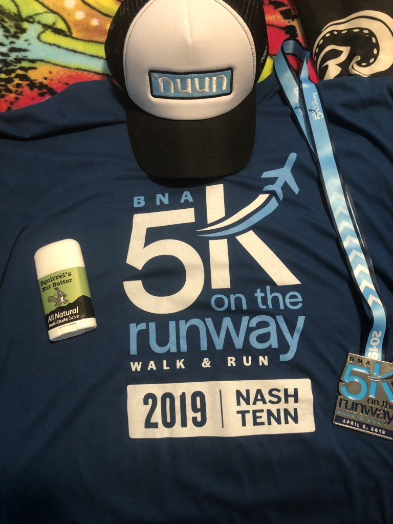 Great local 5k today and was great since it was flat and on a runway. @swiftwick @nuunhydration @squirrelsnutbut #BNA5K #Nuunbassador2019 <br>http://pic.twitter.com/m9sOmULB4n