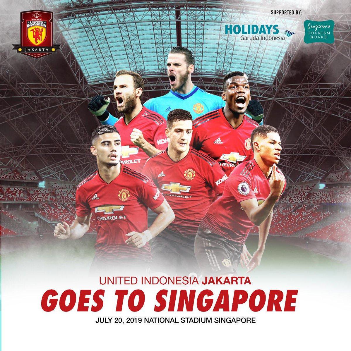 #UIJKT bekerja sama dengan @IndonesiaGaruda dan @VisitSingapore, Ingin menyaksikan Manchester United di Singapore? #UIJKT mengadakan tour nya dan mumpung tour nya kali ini ga jauh dr Jakarta, Yuks yg mau tanya2 bisa hub: WA Olla ( 081908865818 ) dan WA Kiky ( 087755291222 )