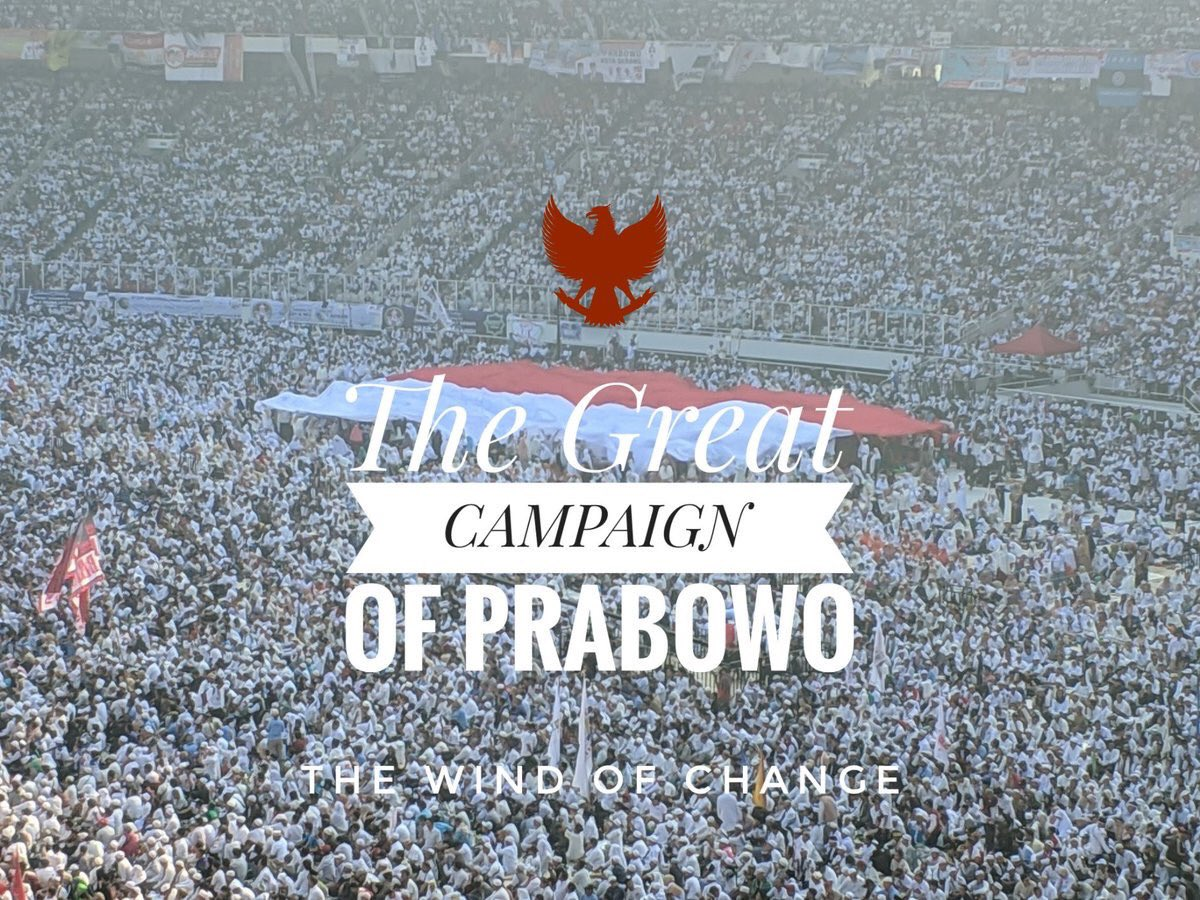 And I am so honored and glad to be part of this magnificent historical event #TheGreatCampaignOfPrabowo for #IndonesiaAdilMakmur
