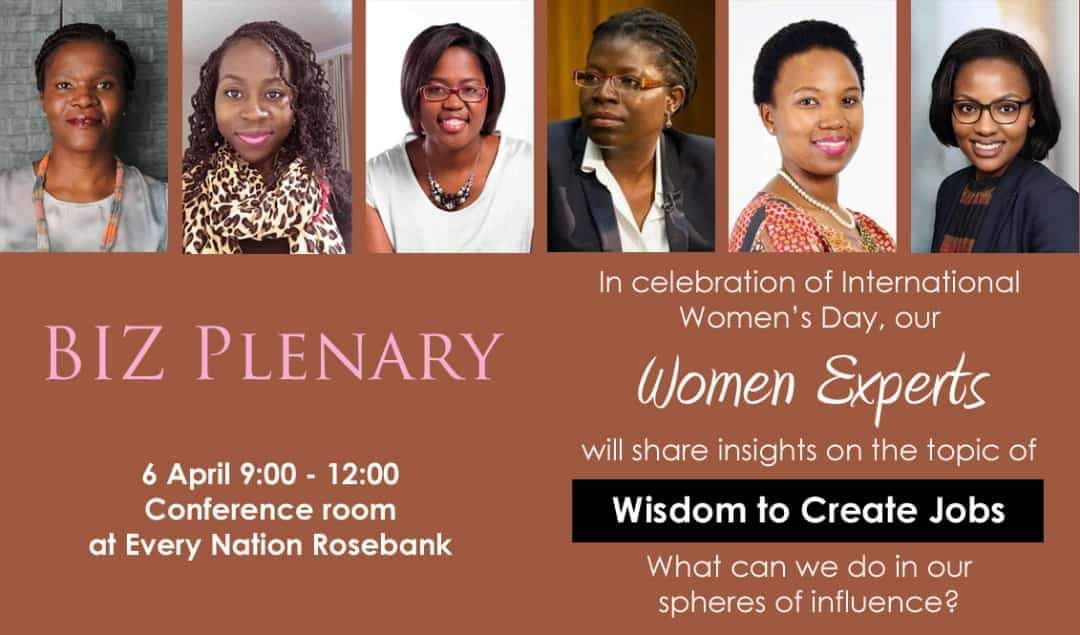Thank you to Every Nation Rosebank Biz Plenary for having me on a panel titled the 'Wisdom to Create Jobs'  A great panel of women experts and an honour to share once again more about the work we do at @Yes4YouthZA  #GiveAYES #NationBuilding #EveryoneHasARole
