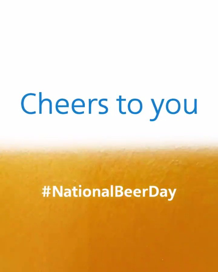 99 bottles of beer on the wall? How about 1.4 million on the ground and in the air! 🍻  Hoppy #NationalBeerDay! 🍺