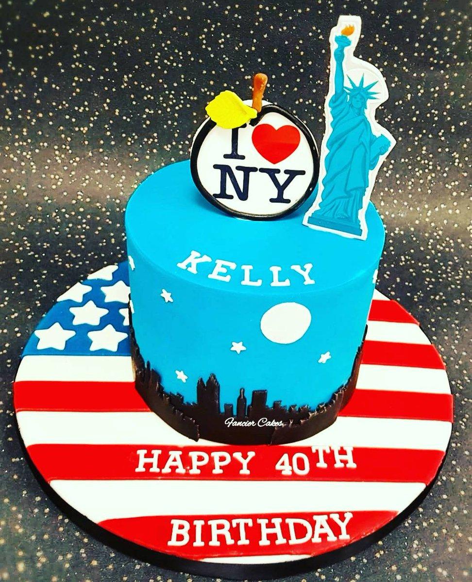 Brilliant Fancier Cakes On Twitter New York Themed Birthday Cake For A Fan Funny Birthday Cards Online Elaedamsfinfo