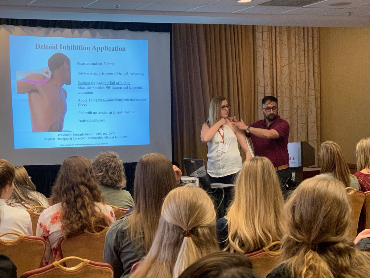 We had some awesome content leaders this year! #Transform2019 RT @Kendra_PT4Life: It was great learning @KinesioTape techniques from Deepesh Dani @Ohio_PT Annual Conference! 👍