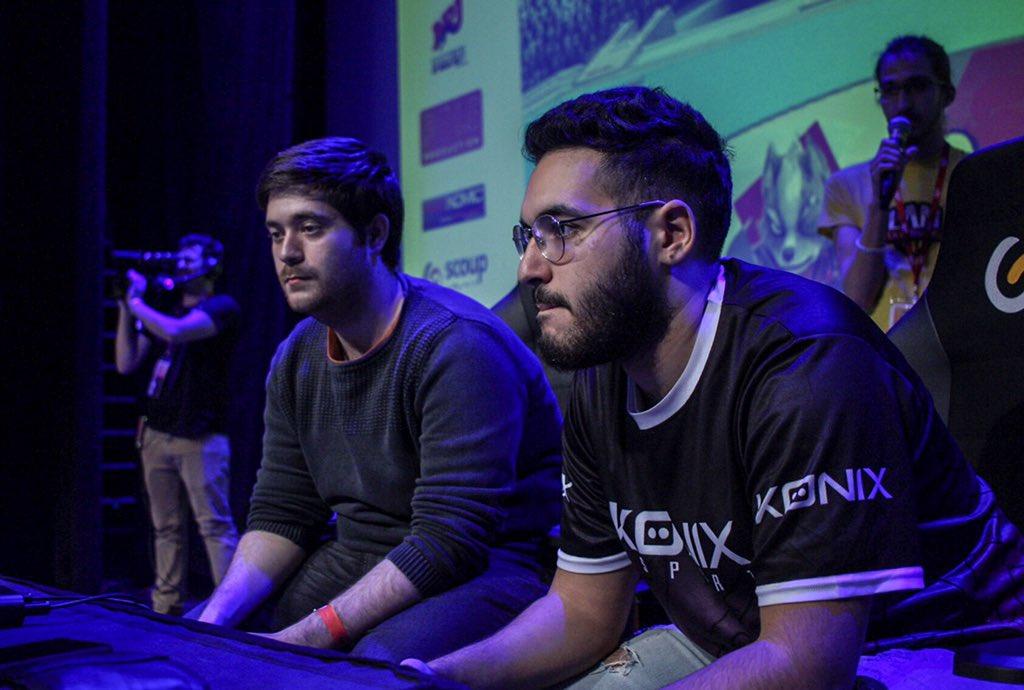 À gauche MarcPQ contre Konix | Greil