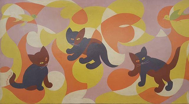 #GiacomoBalla #CanarinGatti #GattiFuturisti [detail] @maggiore_gam @miartmilano #painting #futurismo #cats https://t.co/J7bhYiuWCL