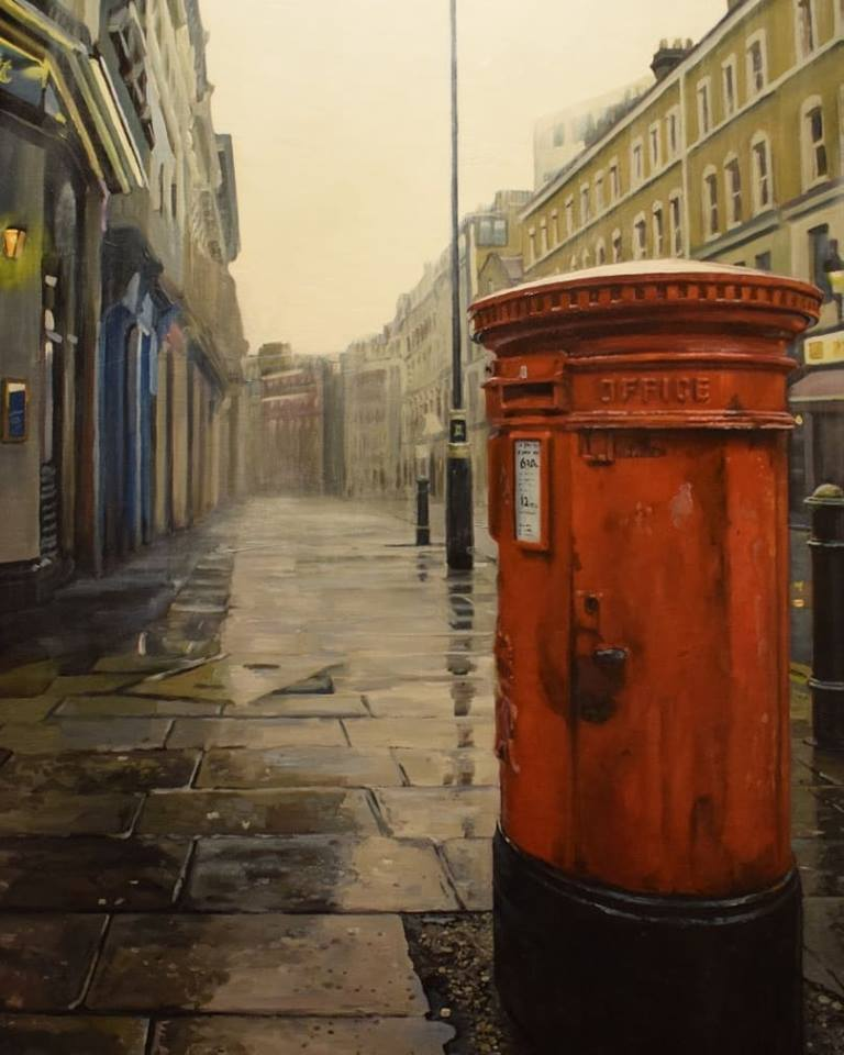 The Garrick Street Box by #JonathanStewardson, currently on display in Lilford Gallery Folkestone #coventgarden #coventgardenart #legarrick #legarrickart #london #londonart #garrick #garrickmailbox #garrickstreet #picturelikepainting #photolikepainting #photolike #oilpaintingpic.twitter.com/2A1qADNyIn