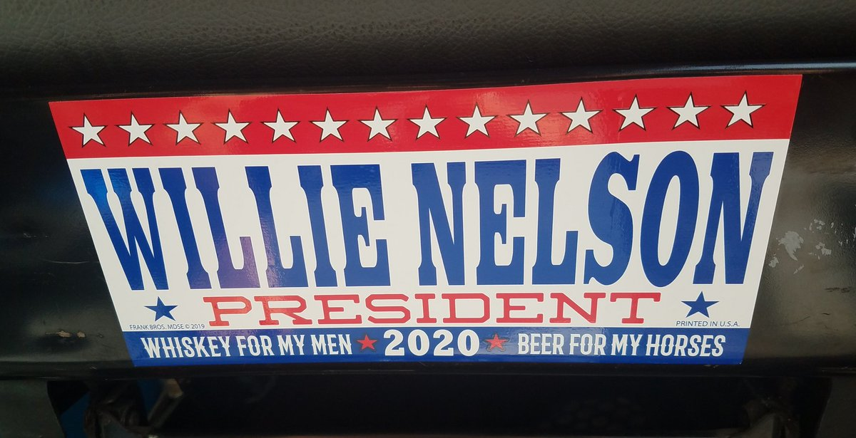 As The 2020 election's get closer my mind is mad up already on my presidential vote! #2020 #WillieforPresident #HappyfundaySunday