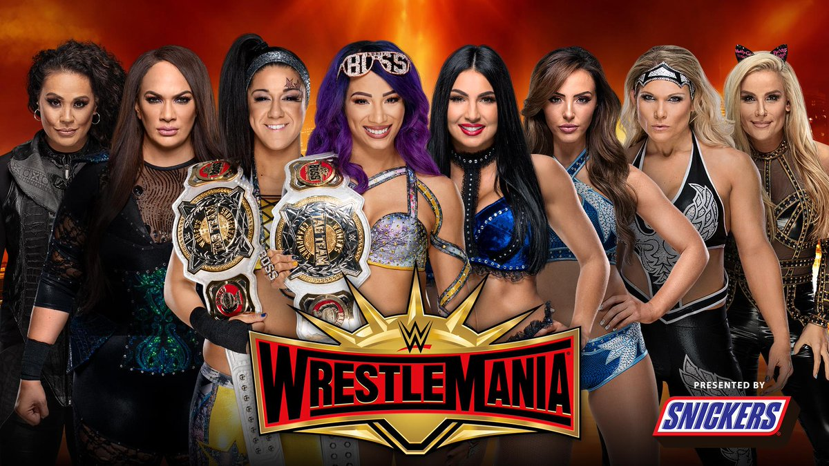 WWE WrestleMania's photo on Sasha and Bayley