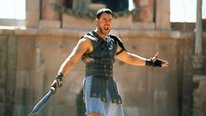 Happy 55th Birthday to Russell Crowe. The Gladiator that won women\s heart in his short skirt . From Life Assure