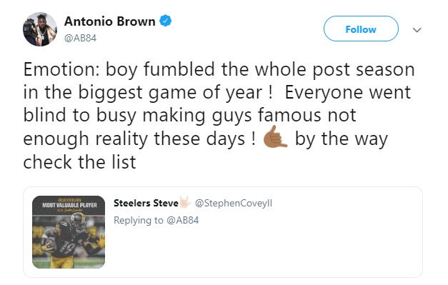 Dov Kleiman On Twitter Antonio Brown Not Long Ago On