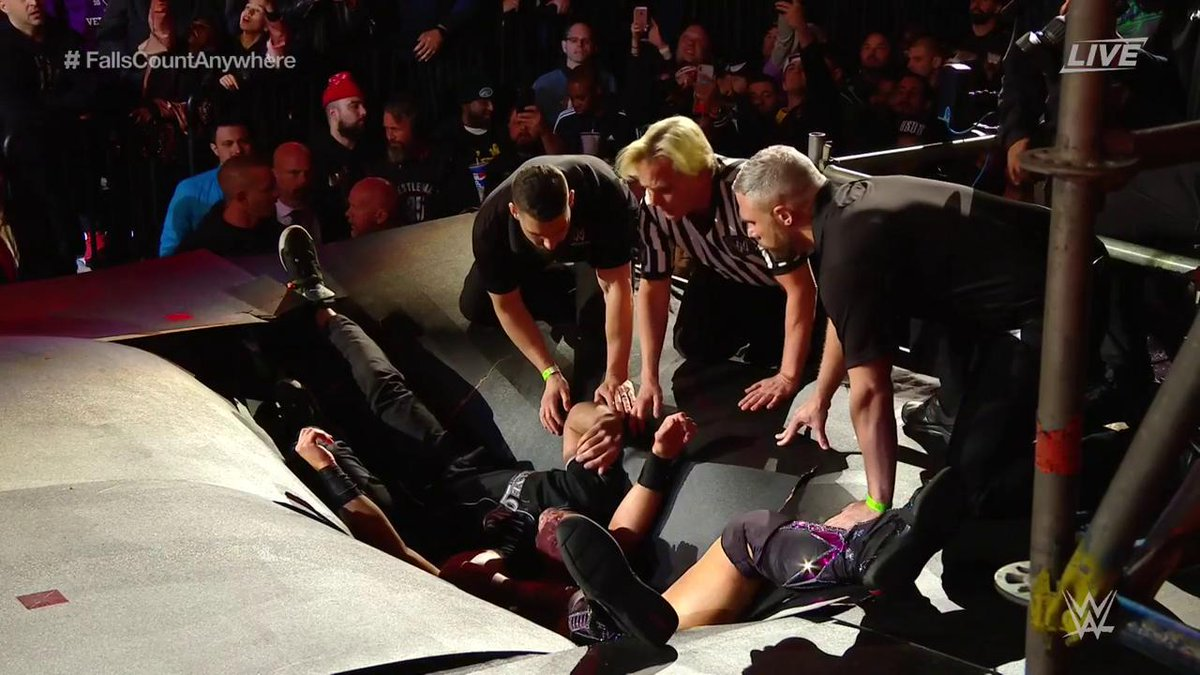 WrestleMania 35: Shane McMahon Vs. The Miz (Falls Count Anywhere Match)