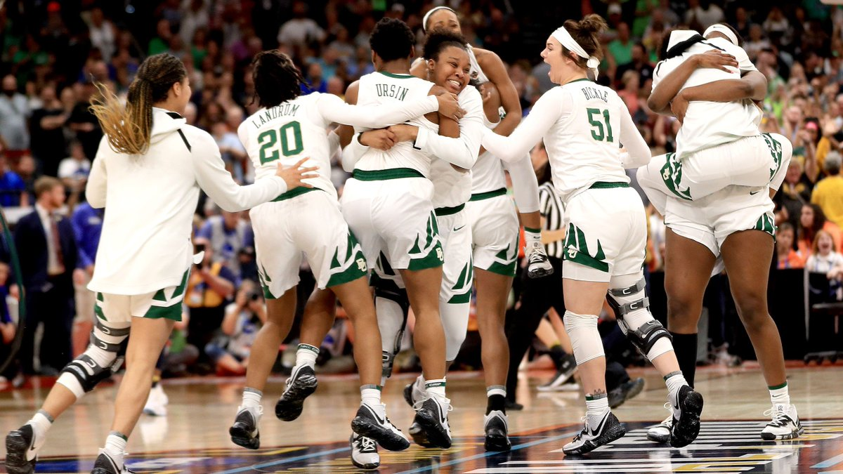 Don't just dance. Steal the show. #justdoit  Congratulations to @BaylorWBB on winning their 3rd National Championship.