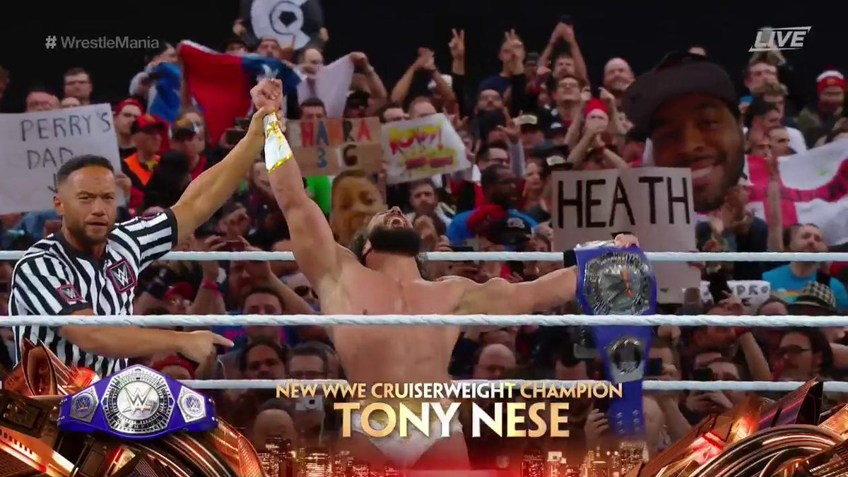 New Champion Crowned On WWE WrestleMania 35 Kickoff Show