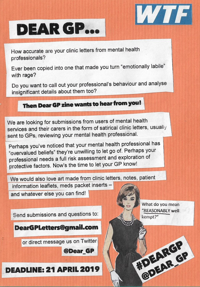 Dear Gp On Twitter Flyer Part 3 In Text Perhaps You Have Noticed That Your Mental Health Professional Has Overvalued Beliefs They Re Unwilling To Let Go Of Perhaps Your Professional Needs A