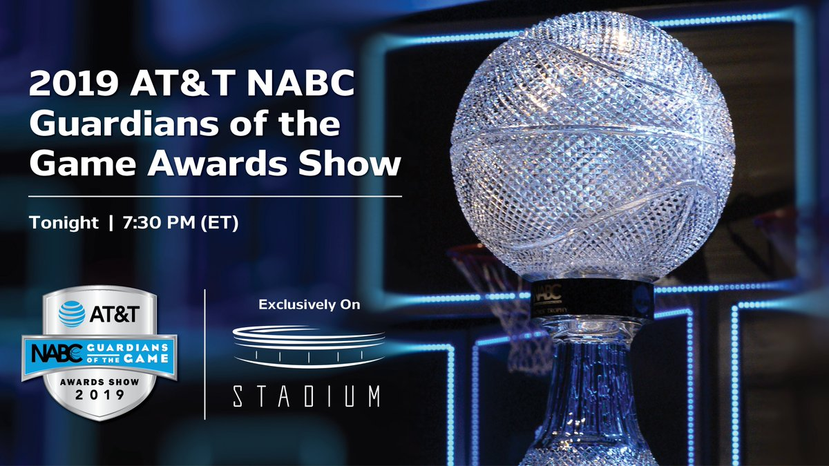 .@UWOMBB's Matt Lewis will receive an award tonight (7:30 p.m. ET) at the AT&T NABC Guardians of the Game Awards Show at the Final Four in Minneapolis. The show will be broadcast live on Stadium (http://watchstadium.com, Stadium OTT apps, http://facebook.com/watchstadium).