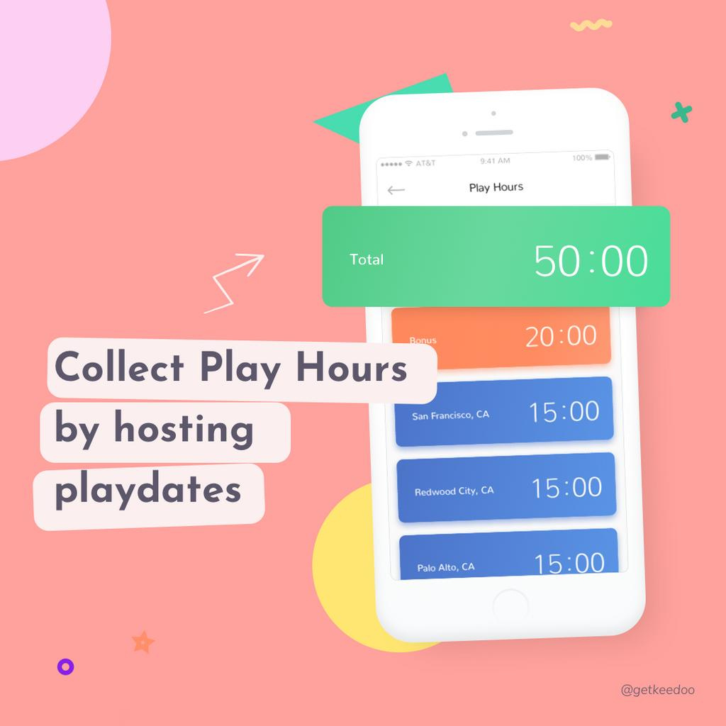 Play Hour is like a Keedoo's internal currency. Collect them by hosting playdates for other kids and spend them on sending your kids to playdates 😲  —— #playdate #playdates #playdatefun #kids #kidsplaying #kidsplaydate #children #childrentoys #keedoo #keedooplaydates https://t.co/dLirQxh5BT