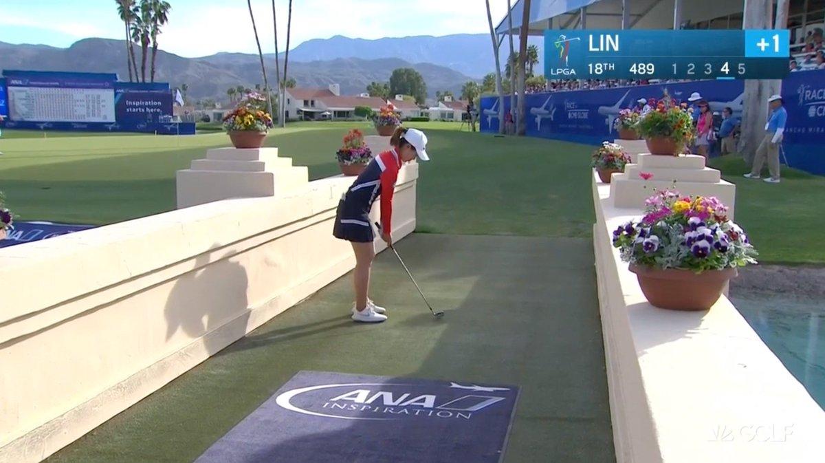 Watch LPGA player make par save of the season from a bridge at the ANA Inspiration