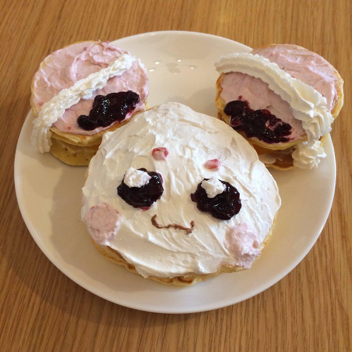 娘の誕生日だからフワのケーキ作ってみたけど頑張りました感