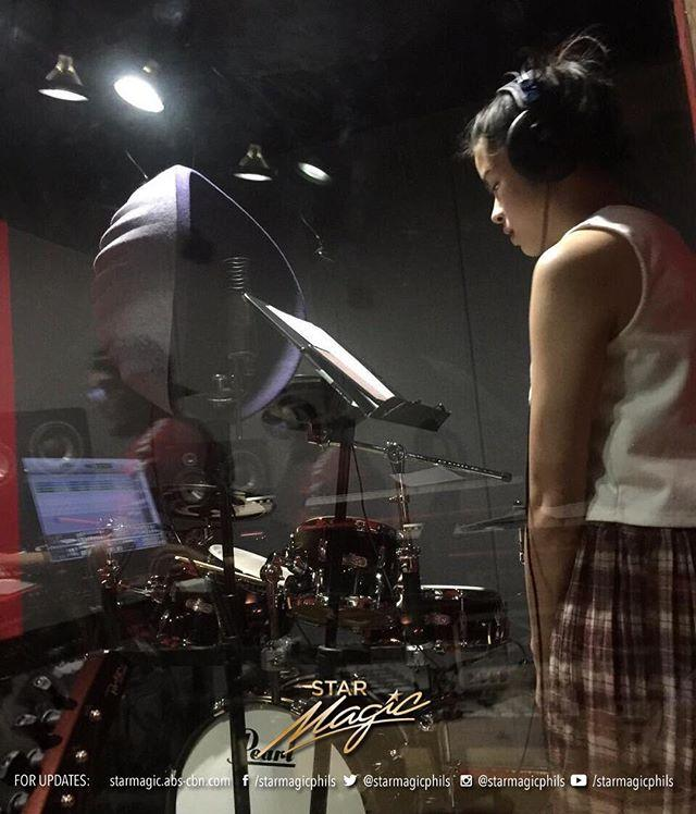 Kisses Delavin during voice rehearsals for her upcoming 'A Life Full of Kisses' concert happening this April 25 at the Music Museum http://bit.ly/2D5WjDj