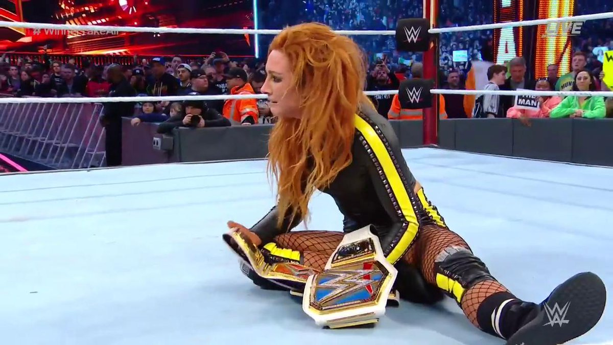 WrestleMania 35: Becky Lynch Vs. Charlotte Flair Vs. Ronda Rousey (Winner Takes All Title Match)
