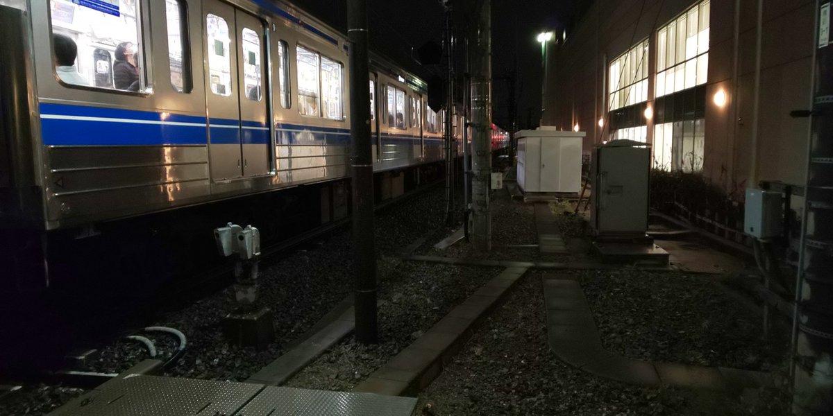 池袋線の椎名町駅~東長崎駅間の人身事故現場の画像