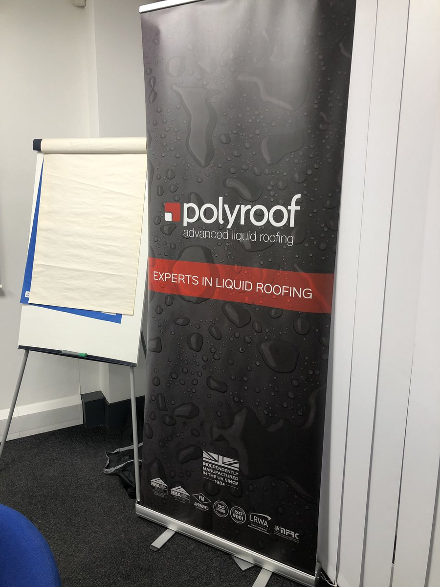 We're pleased to welcome @PolyroofLtd back to our Roofing Training Academy for another two day systems installation course for one of our customers. #safe2torch #ifitsontheroofwestockit #neverjustaroof