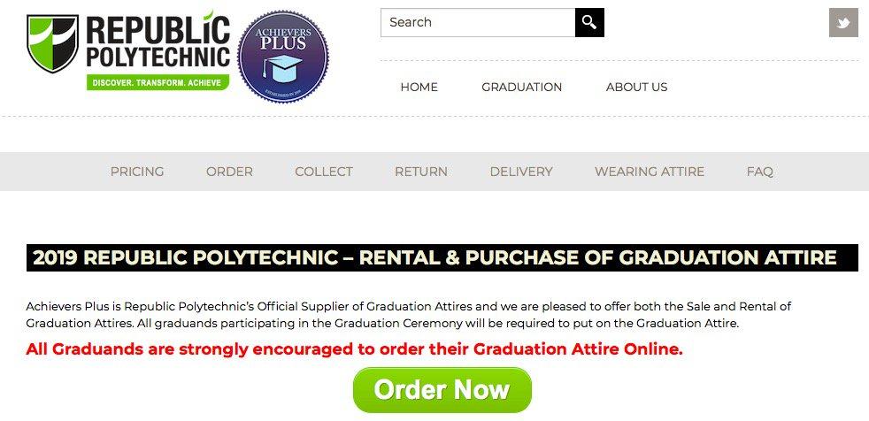 RP online order for graduation 2019 started! 08 April to 20 April. #RPgrad19 pic.twitter.com/gWMTLIKBpA
