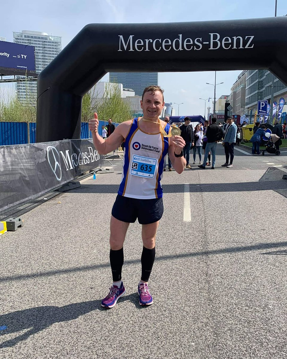 Looking for your #MondayMotivation? Our very own Cpl Jon Ward hit a new personal best over this weekend in his preparation for @LondonMarathon, and subsequent attempt to run the @NorthEast250 later this year. He ran a time of 2:55:42! Great effort Jon!  @RAF100Marathons @RAFBF