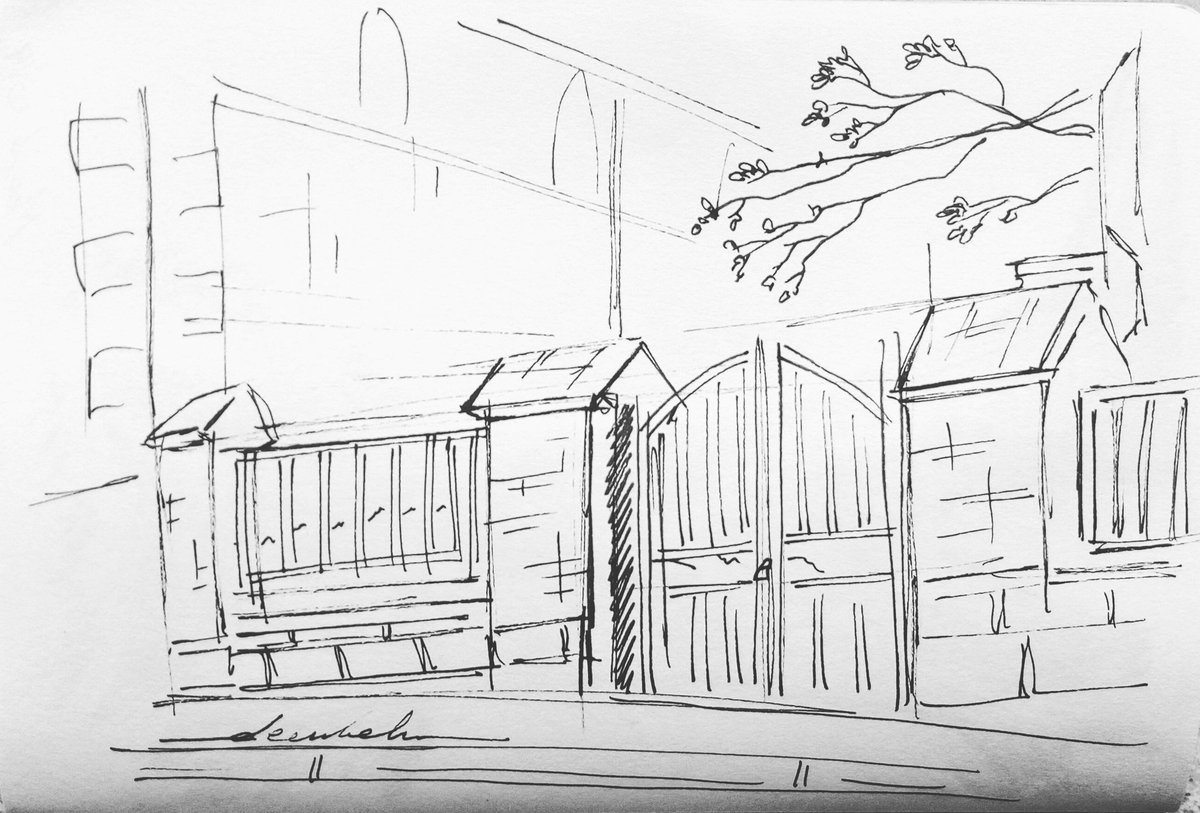 Fence #dailyart #dailyillustration #fence #gate #onestroke #landscape https://t.co/rOzBS7WauN