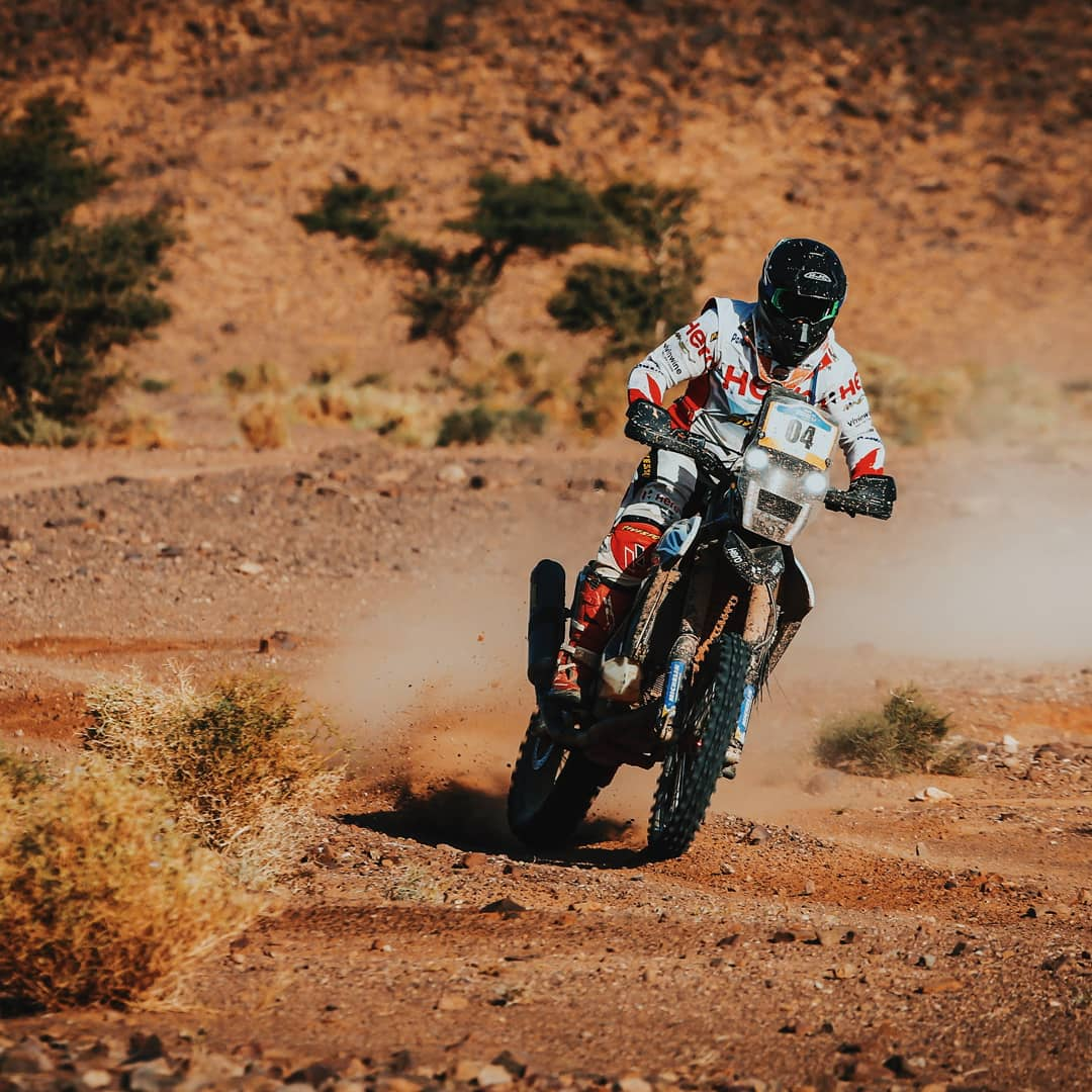 From the podium. @oriolmena87 was impressive as ever, near perfect in navigation and showing great temperament and understanding of the sport. #Merzouga2019 #RaceTheLimits @hero_motosports<br>http://pic.twitter.com/rn9Tvu0IE2