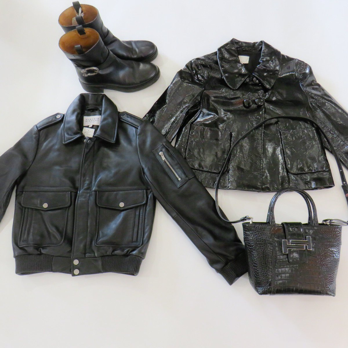 344e1a891 ... jacket (£80, S) #gucci biker boots (£250, 7) #tods small double T  leather croc stamped bag £650 new with tags (rrp £920) #ootdpic.twitter .com/OoSQ8z46AV
