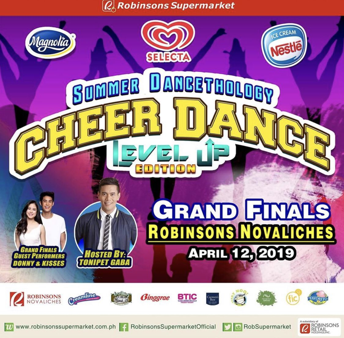 Catch #DonKiss as guest performers at Robinsons Novaliches on Friday, 12th of April 2019 for the Summer Dancethology Cheer Dance Level Up Edition.  If you want to join and represent our fam, DM @DKATeamEVENTS! See you guys there. 💖  @donnypangilinan @KissesDelavin