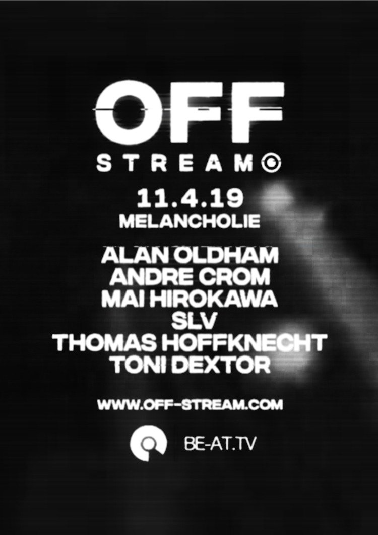 Next mission: 11 April at #Melancholie with @AndreCromDJ & friends live from #Berlin! Tune in on @BE_AT_TV #detroittechno #berlintechno @OFF_Recordingspic.twitter.com/qizkpJPzMy