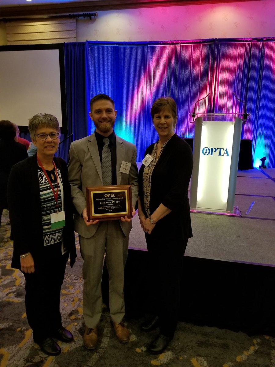 Congrats Derek! RT @jhowdpt: @OhioU_PT alum Derek Steele is @Ohio_PT CI of the Year!! Your @OhioU_PT DCEs are Bobcat proud!! Congrats Derek!! #Transform2019