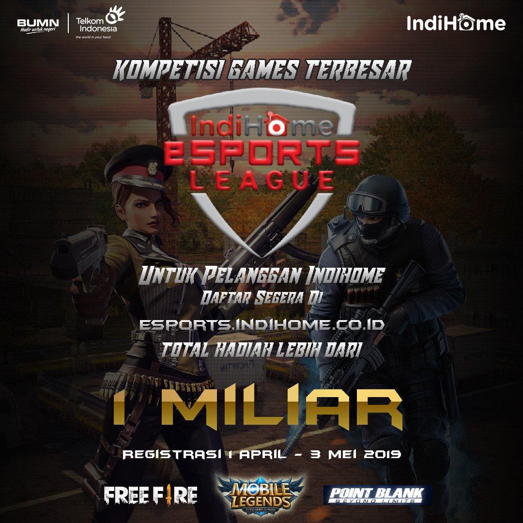 Indihome Interactive Tv A Twitter Halo Sobat Kini E Sport Kembali Hadir Dengan Kompetisi Games Yang Lebih Menarik Dengan Tiga Games Terkenal Diantaranya Point Blank Free Fire Dan Juga Mobile Legend Segera Daftarkan