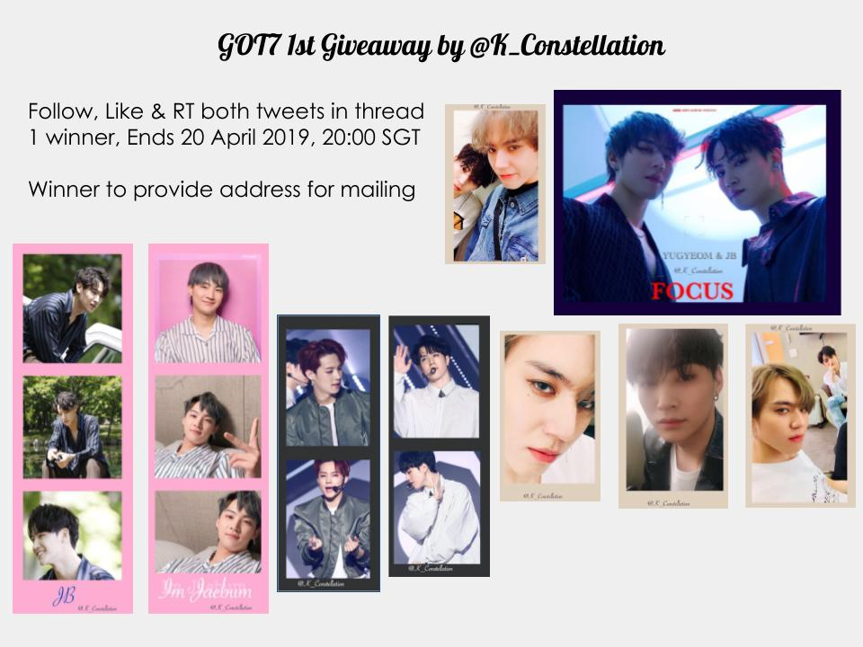 [JUS2 GIVEAWAY] - SG ONLY  Giveaway to celebrate #JUS2inSG #jus2insingapore #Jus2_FOCUSTOURinSG   Follow, Like & RT both tweets in thread to join  1 Winner, ends 20 Apr 2019 20:00 SGT  #Got7 #jus2 #Jus2_FOCUS_ON_ME #ahgase #jaebeom #yugyeom #K_ConstellationGA<br>http://pic.twitter.com/j8Dp0zu51A