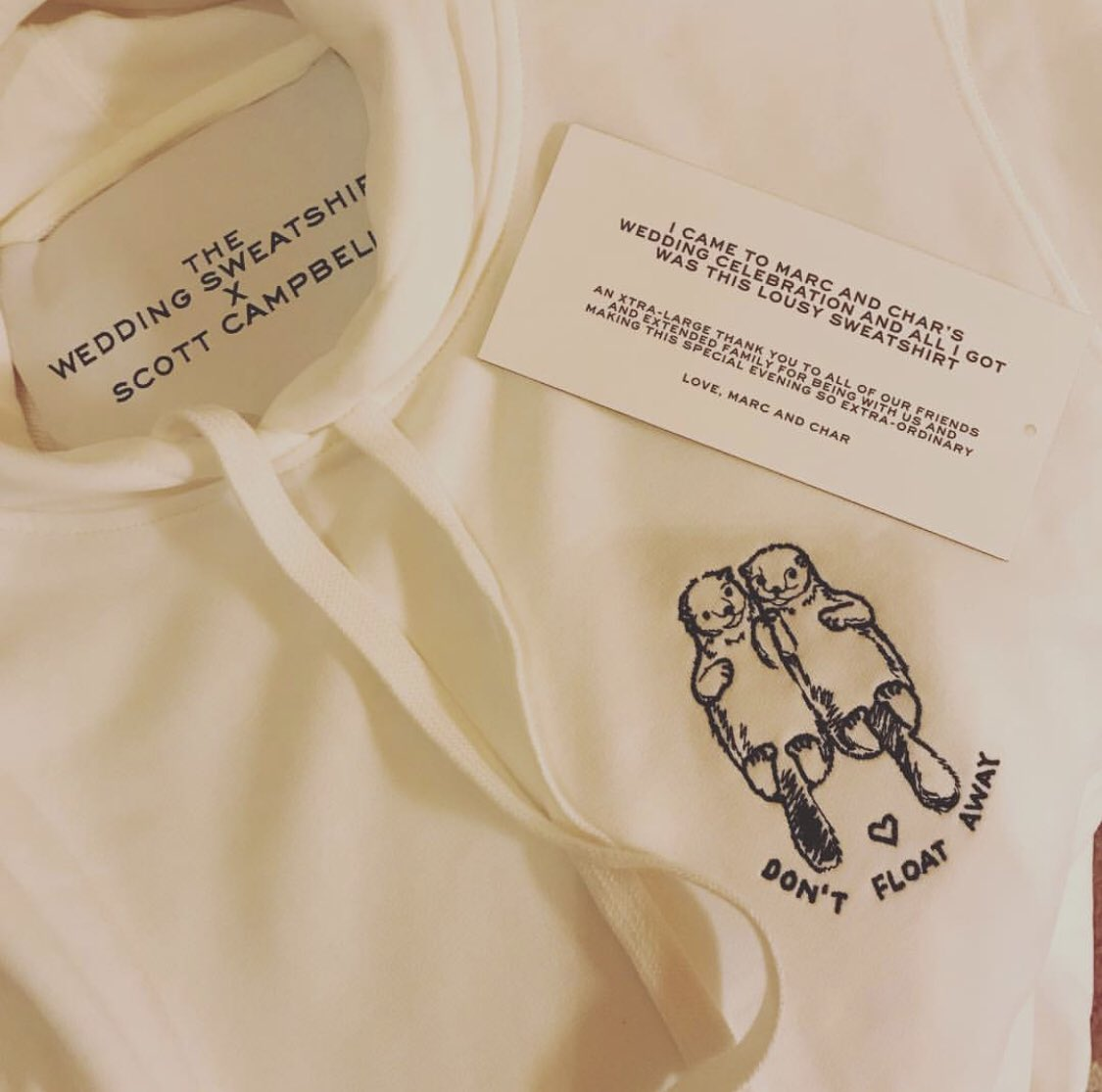 The Marc Jacobs wedding merch was excellent: