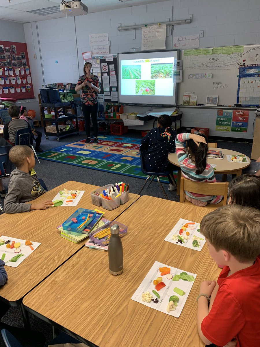 2nd graders learning about parts of a plant that we eat as part of our everyday food! Thank you Ms. Zimmerman for helping us to make these connections! <a target='_blank' href='http://twitter.com/CampbellAPS'>@CampbellAPS</a> <a target='_blank' href='https://t.co/KDolvTPlJ5'>https://t.co/KDolvTPlJ5</a>