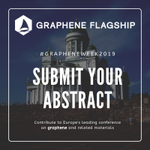 Image for the Tweet beginning: #GrapheneWeek2019 is calling for abstracts!