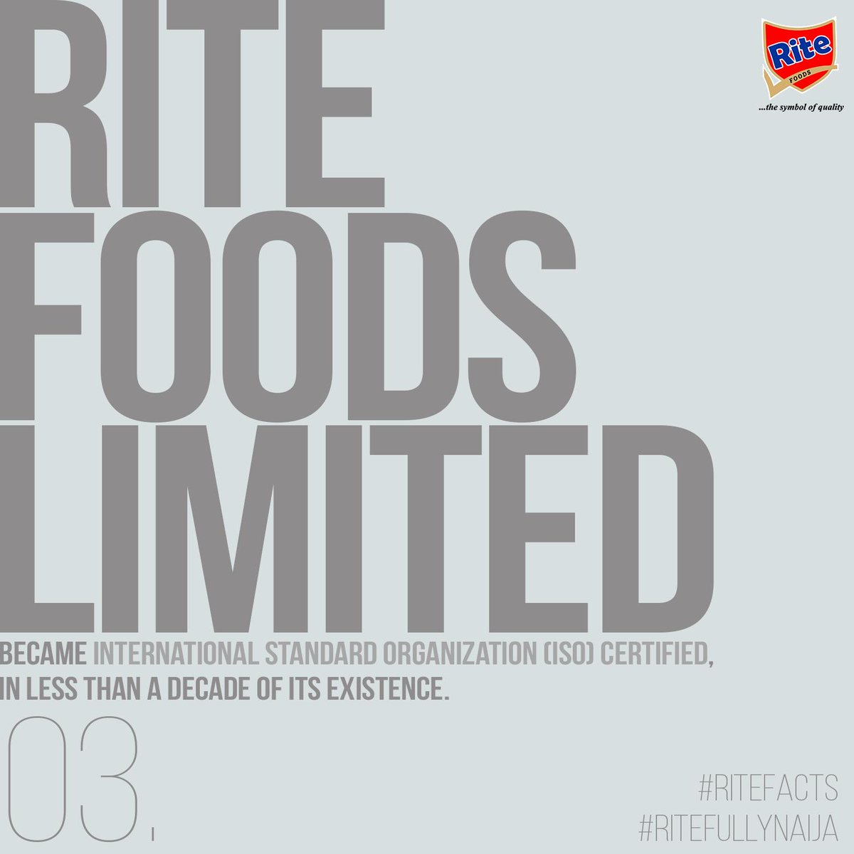 Fact 3 Rite Foods Limited Is Iso International Standard
