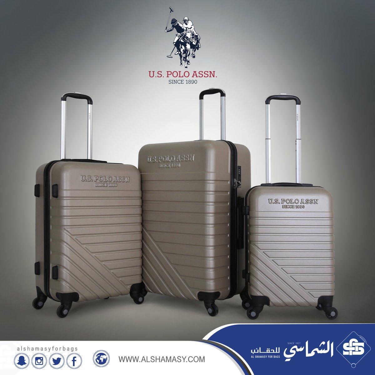 2573fc239 وصل حديثاً طقم حقائب سفر ماركة يو اس بولو اسسن ثلاث حقائب سفر مصنوعة من  البولي