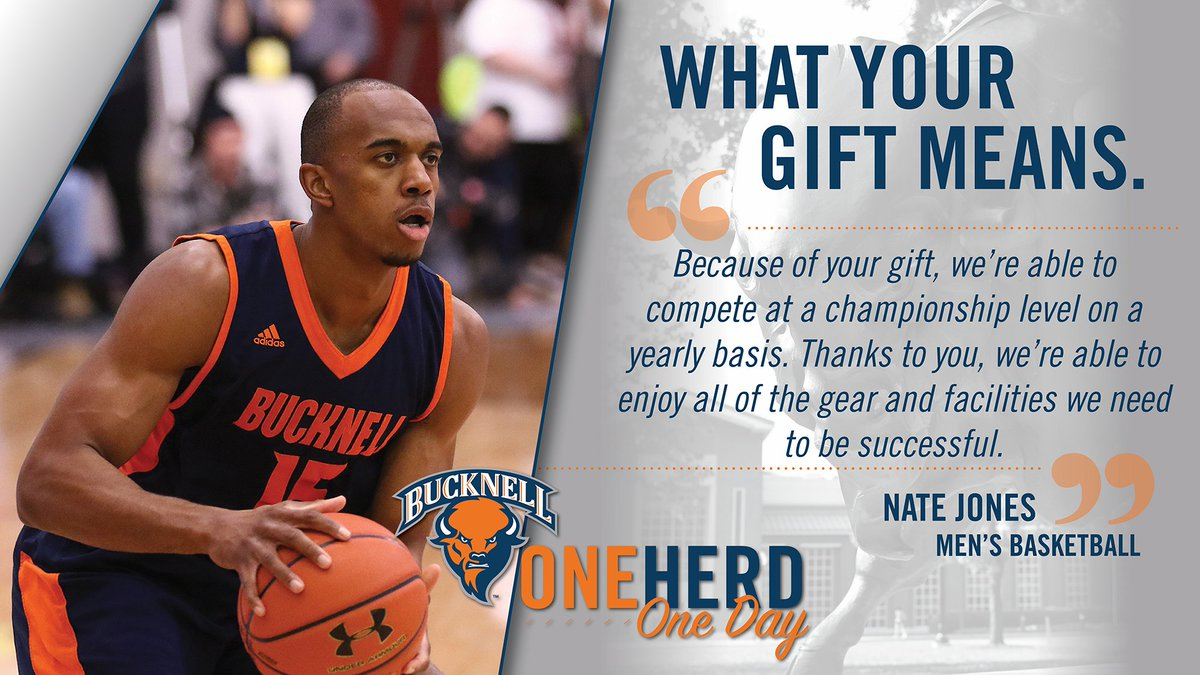 Help us continue to compete at a championship level. Join us on Apr. 16 for #OneHerdOneDay.   Info: http://bucknell.edu/OneHerdOneDay